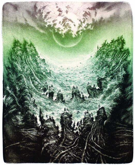 6. Domáce príbehy I (litografie, 1994)