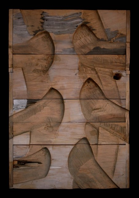 hell, matrix,wood,2007, 80x100, Jan Kocman, small