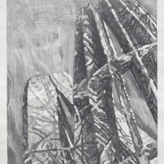 ANTARES, kamenotisk ,90 x 120 cm, 2014