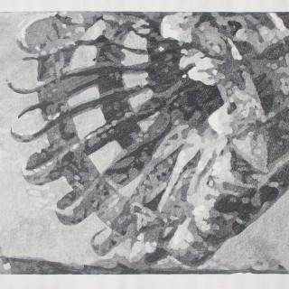 SEDMÁ POLNICE, kamenotisk, 90 x 120 cm, 2014
