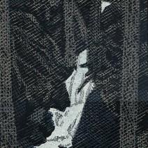 Potok v lese,2009,34,5x17,5
