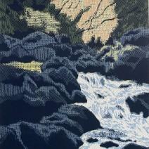 Světlo nad potokem,2007,70x48