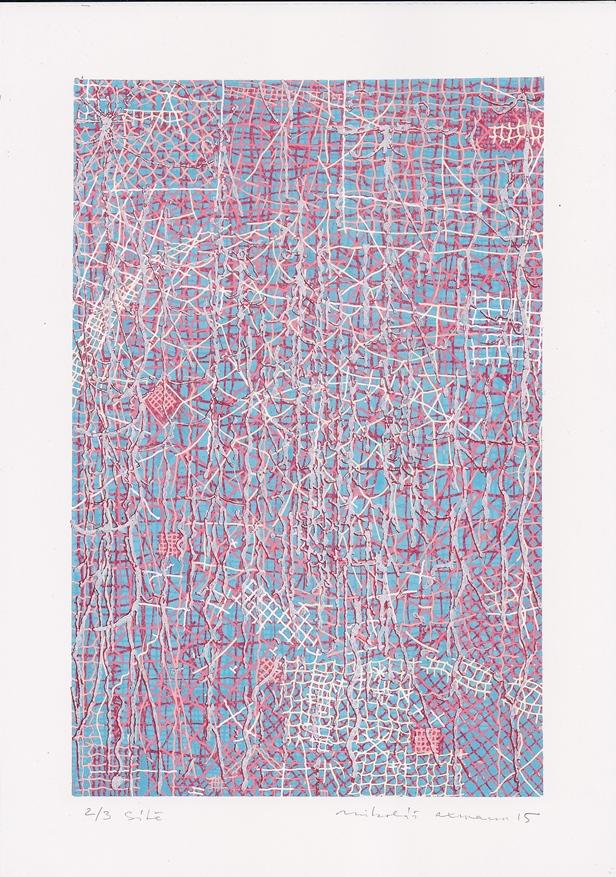 Mikoláš Axmann, Sítě, litografie, vel. tisku 297 x 210 mm, vel. listu 297 x 210 mm