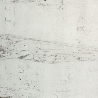 z cyklu Prázdnota, 2015, 50x89, lept, japonský papír