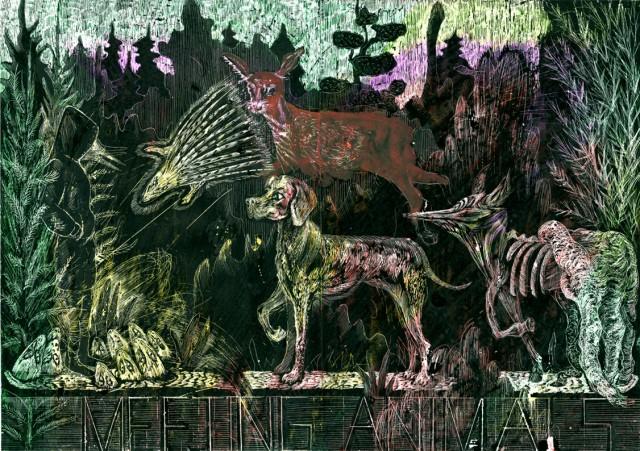 Meeting animals, 2014, 42x30 cm