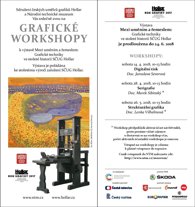 HOLLAR - Mezi uměním a řemeslem workshopy 2018