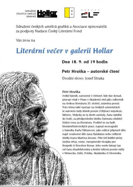 Literarni vecer -Hollar - Hruška