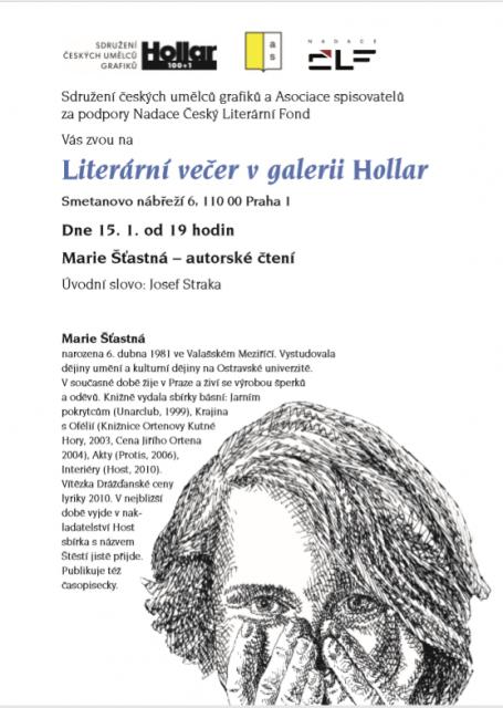 Literární večer 1-2019 - Marie Šťastná