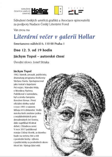 Literární večer Jáchym Topol 3-2019