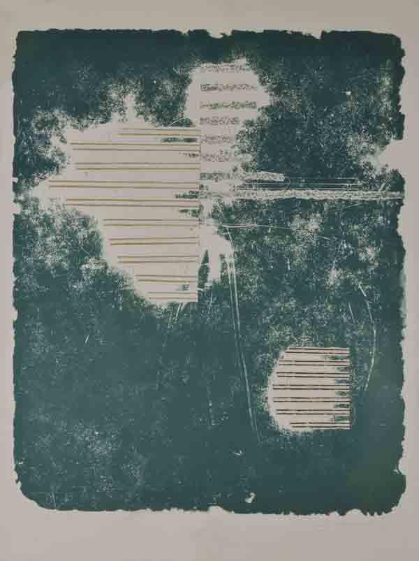 1983 Otisk kameneI.Litografie + kresba + koláž 97x70