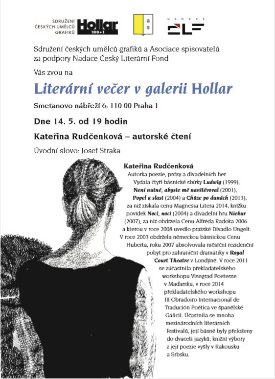 literární večer Kateřina Rudčenková 5-2019