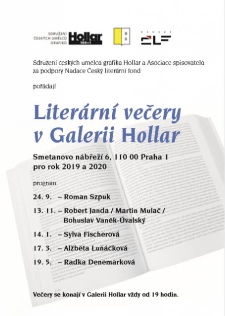 Literární večery v Galerii Hollar 2019-2020