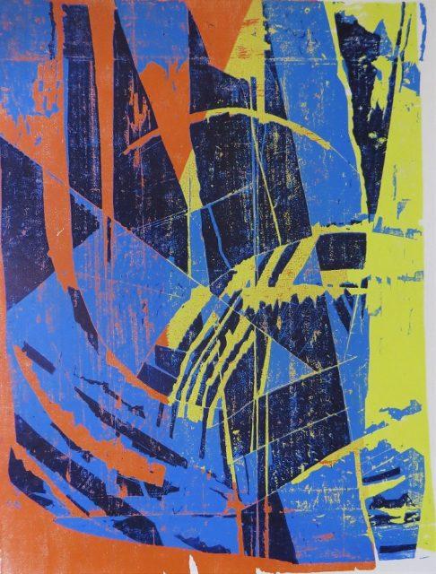 z cyklu Pragensia, barevný dřevořez, 1987