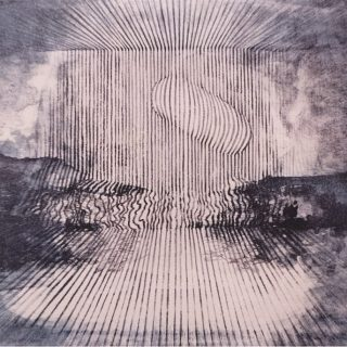 Venku a uvnitř-litografie