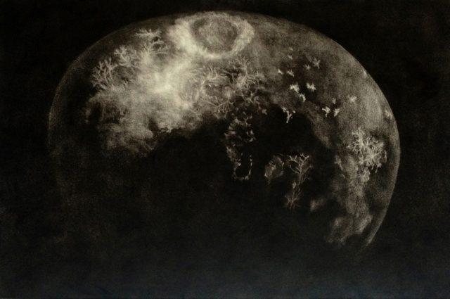 Láva | mezzotinta, 66 x 100 cm, 2013
