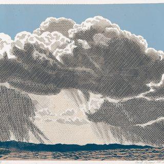 Pavel Piekar, Bouře, linoryt, 2017 / 470 x 590 mm