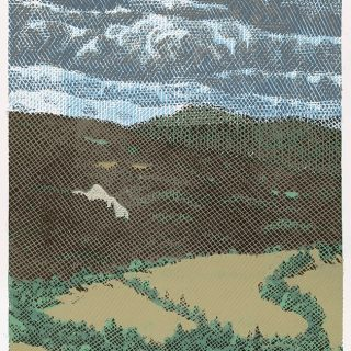 Pavel Piekar, Dálka - oblaka, linoryt, 2020 / 785 x 430 mm