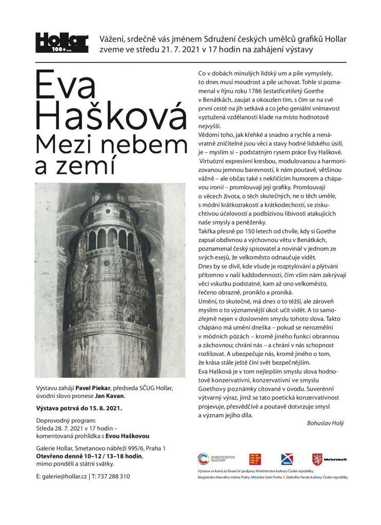 POZVÁNKA Eva Hašková - Mezi nebem a zemí (2)