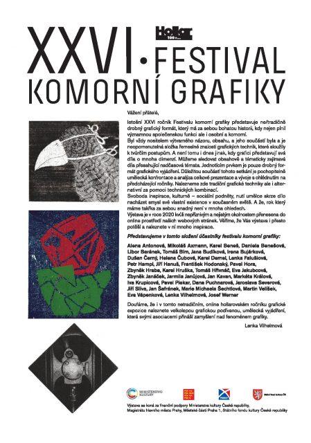 Galerie Hollar XXVI. Festival komorní grafiky ONLINE