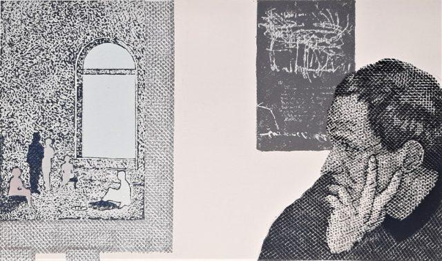 Pavel Piekar - Jiří Balcar, barevný linoryt, 1993