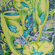 Xénia Hoffmeisterová - Houbicky po desti,2010,litografie,100x70cm, náklad 60 d