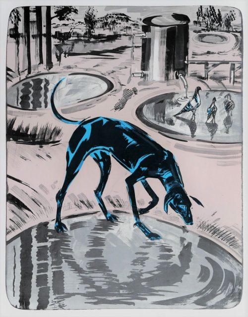 Xénia Hoffmeisterová - Žízeň I, 2019,litografie,70x50cm, náklad 100