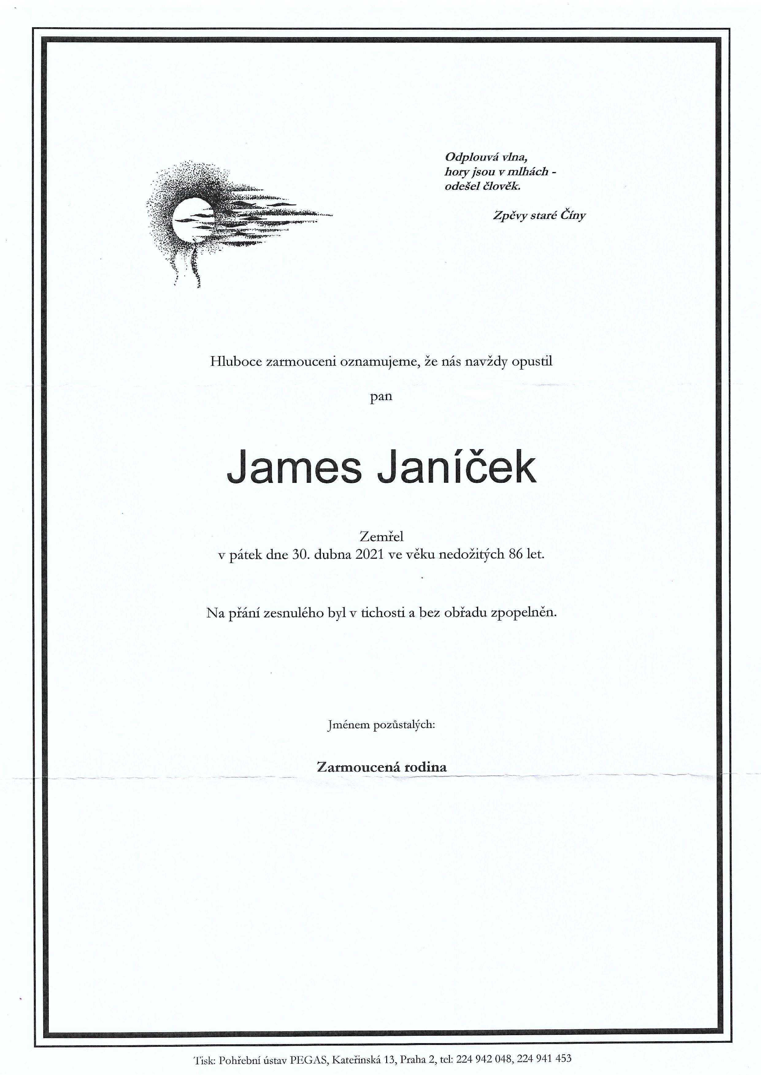James Janíček parte