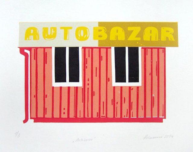 Autobazar, 24,5 x15,5 cm, 2014