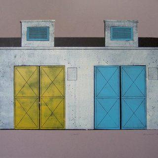 Vrata, linoryt, 67x43 cm, 2014